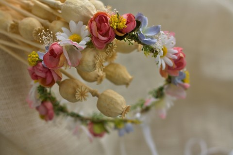 Věneček do vlasů Kopretiny... dřevo šperk víla vlasy letní přírodní  heřmánek louka růže c9e7e522bc