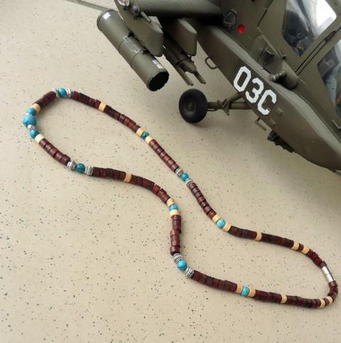 Pánský náhrdelník s tyrkenitem dřevěné korálky malé korálky náhrdelník pro  muže dřevěný náhrdelník pánský šperk pánský b492b2aaa5c