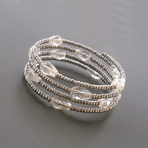 2d0cefe2a Kapky - náramek na drobnější ruku stříbrný elegantní stříbrná stříbrné  jemný drobný drobné malý úzký maličký