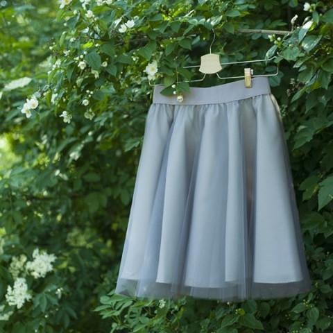 08548cd6d91c Simira - Tylová sukně šedá - cheremyha