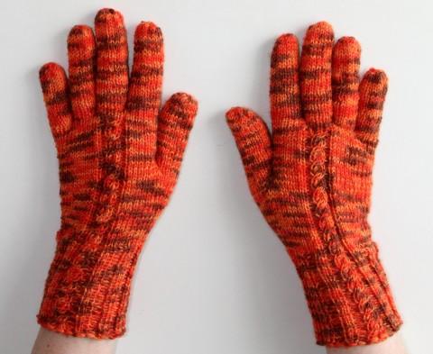 baf85bd4009 Ručně pletené rukavice červená oranžová jarní pletené hnědá pestré zimní  vlna podzimní rukavice dámské koření teplé