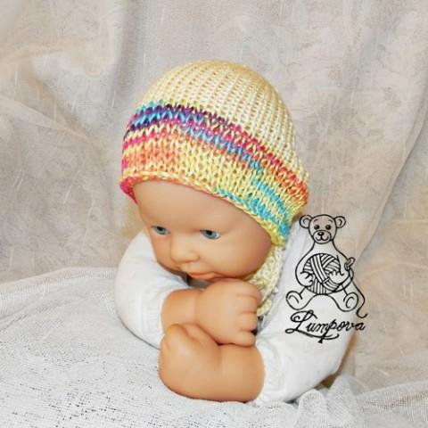8ad9bd8c197 newborm čepička i pro dvojčátka dárek děti čepice čepička pletené miminko  oblečení miminka knoflík teplá měkká