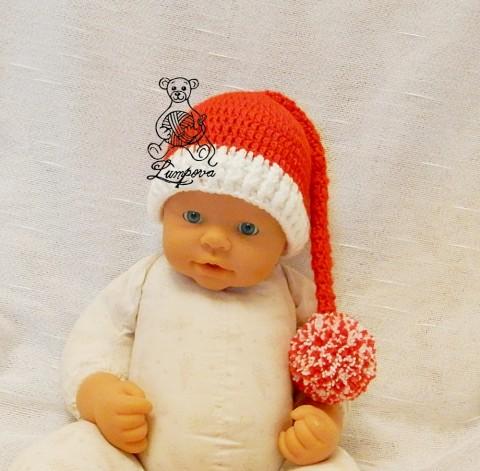 113496a7841 čepička pro miminko na focení dřevěný dárek děti vánoce čepice čepička  vánoční pletené květ miminko oblečení