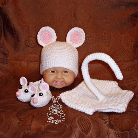 Soupravička pro miminko - návod dárek děti čepice čepička ...
