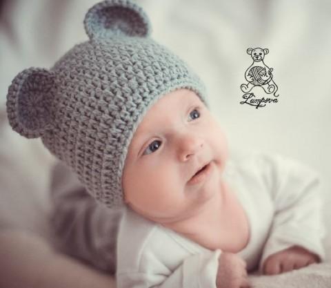 1bb3e35a977 Čepička pro vaše miminko na focení dárek děti čepice čepička pletené  miminko oblečení miminka knoflík teplá