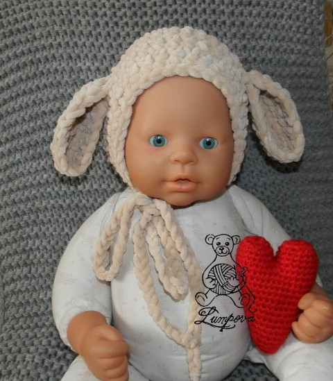 44ce68a3bf0 newborn čepička na focení dárek děti čepice čepička ovečka pletené  velikonoce miminko oblečení zajíček miminka rekvizita