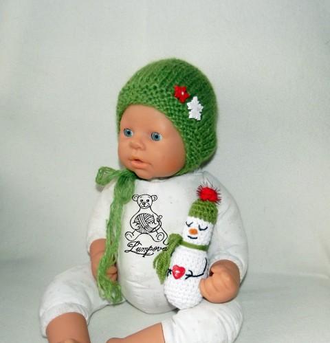 ef409cba057 sněhuláček na focení dřevěný dárek děti vánoce čepice čepička vánoční  pletené květ miminko oblečení focení miminka