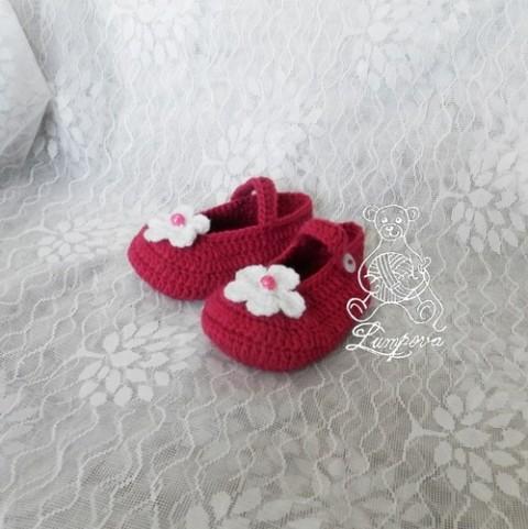 a695eefc77f návod - háčkované balerínky papuče háčkovaná dívčí háčkování háčkované  aplikace knoflík botičky popis balerínky bačkůrky návody