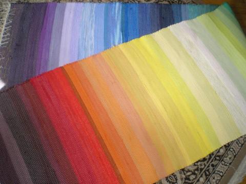 Koberce na přání duhové koberec bavlna tkané běhoun eko recy ručně tkané  recy věci b4a3c5503b