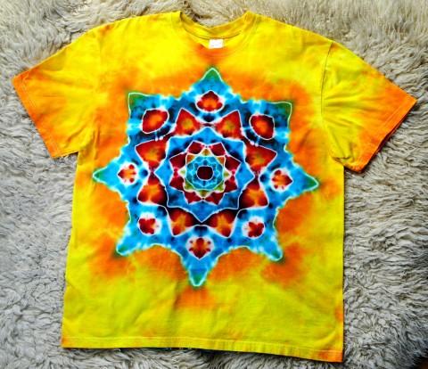 2c89c0157a52 Batikované tričko - Jarní mandala voda moře batika veselé žlutá jaro léto  tyrkysová sluníčko mandala hippie