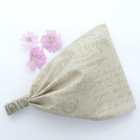 84455faea03 Látková čelenka - režná doplněk zima jarní letní jednoduché jaro kosmetická  čelenka kytičky romantické léto jemné