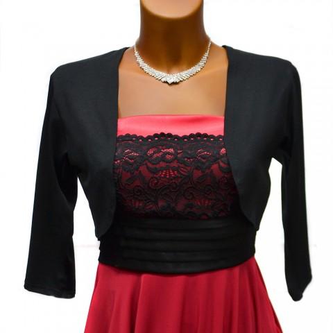 Bolerko LISA černé divadlo elegantní černá top šaty taneční společenské  ples plesové kabátek bolerko promoce slušivé 911a3934c25