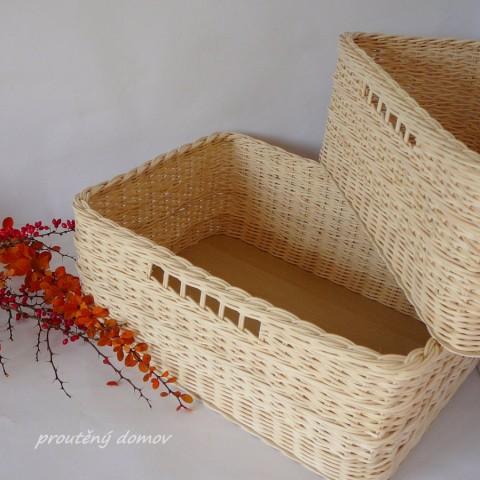Šuplík s průhmatem dřevo pedig koš šuplík pletený přírodní úložný obdélník  originál vesnice řemeslo proutí tradice 4925683c41