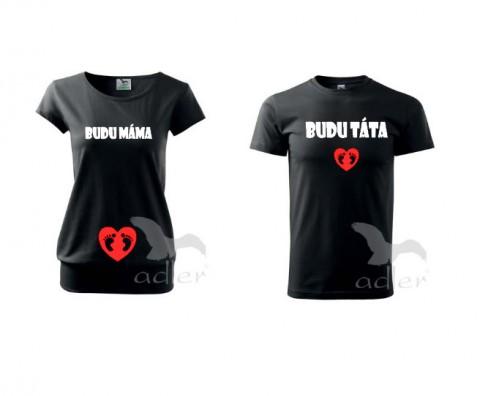 b93ee05775 Rodiče triko dítě tričko duo pár těhotenské partnerství bříško těhotenství  břicho