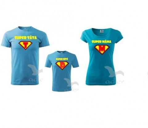 1dd920c355 Super rodina (3členná rodina) triko dítě tričko duo pár těhotenské  partnerství bříško těhotenství břicho