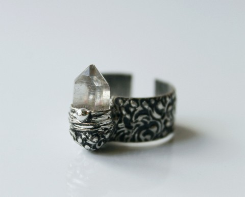 388d28cdb prsten CHRISTINE .. ( křišťál ) polodrahokam prsten cín křišťál minerál  prstýnek tiffany cínování cínované