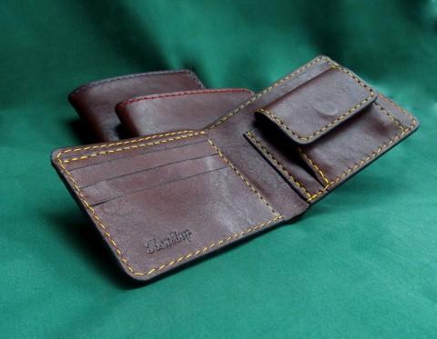 14ab38b47 Kožená peněženka dárek peněženka kůže peníze mince pánská pro muže vánoční  dárek ručně šitá kožená peněženka
