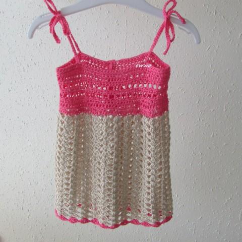 8785bce7f735 Letní šatičky (bambus) děti bambus růžová holčička holčičí letní přírodní šaty  léto háčkované šatičky