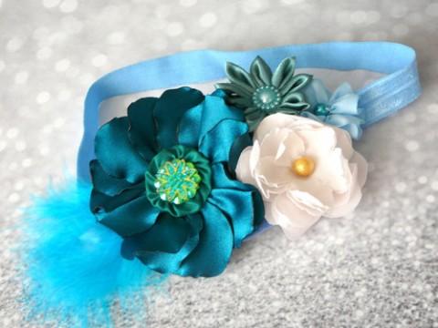 Luxusní čelenka pro princezny. bílá barevná ozdoba čelenka broskvová čelenka  pro holčičku pružná čelenka vlasová 8995cb6c38