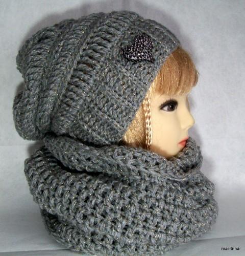 Zachumlám se - souprava V. zima zlatá moderní šála šedá souprava dámská  zimní luxusní módní baeb02cddc