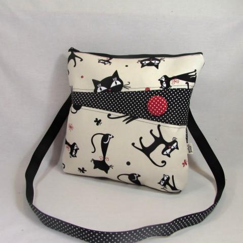 41906a99eac kabelka kočky režné kabelka červená dárek taška puntík kočky režná malá  kabelka černá kočka