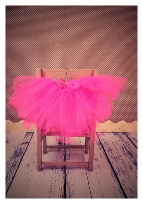053299eea22 Tylová TUTU sukýnka - neon růžová princezna foto víla sukně svatba tyl tylová  dětská perličky kostým