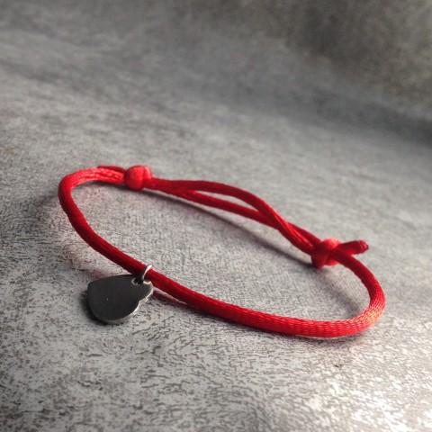 Červený náramek se srdíčkem náramek srdce srdíčko štěstí ochranný kabbalah  saténová šňůrka 7ce9d9ad572