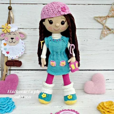 Panenka Sandy - návod na háčkování panenka pletení háčkování kurz popis návod návod na háčkování