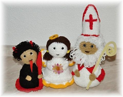 b2ce6a0a0 ČERT - ANDĚL - MIKULÁŠ - NÁVOD dekorace vánoce vánoční háčkované anděl  andílek postavičky čert popis