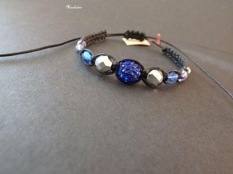 fe8c827e8 Shamballa - Třpytivá v tmavě modré náramek originální modrá elegantní černá  rock elegance stříbrná originál světlemodrá