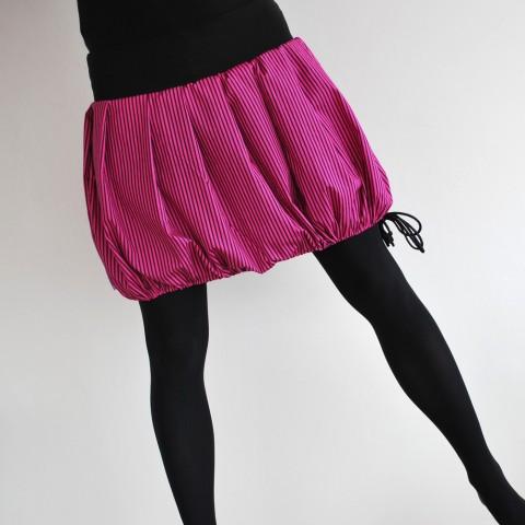 Balonetka fialová růžová černá sukně pruh proužek balónová balón krátká 4e90309e0f