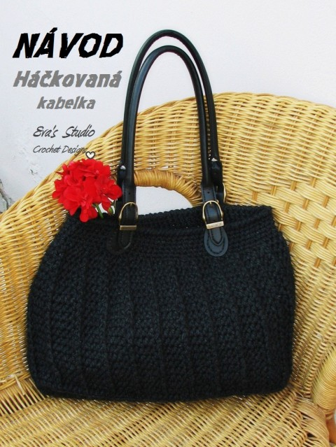5f98b7ed14 NÁVOD - HÁČKOVANÁ KABELKA kabelka taška háčkování moda popis návod jak  uháčkovat kabelku